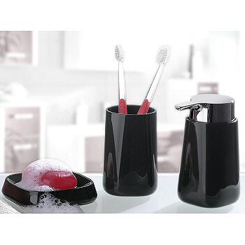 black bathroom accessory sets