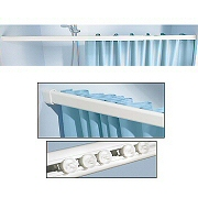 hook free shower curtain rod