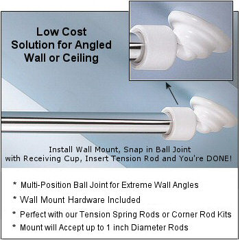 Angled Shower Rod Wall Mount Slanted Or Angled Wall