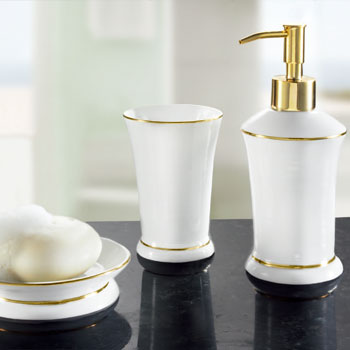 Ascot bath accessories for White and gold bathroom accessories