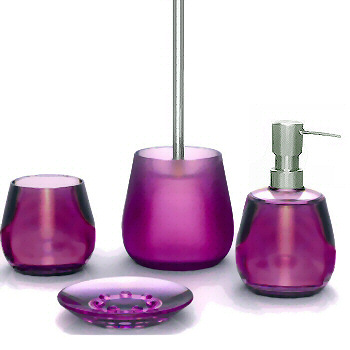 Bathroom Accessories Purple beautiful acrylic modern bath accessories - red, grey and purple