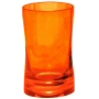 bright red orange bath accessories