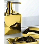 Elegant porcelain bathroom accessories in luxurious gold or silver colors