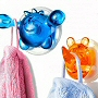 cute, colorful and functional kids shower hooks with suction cups