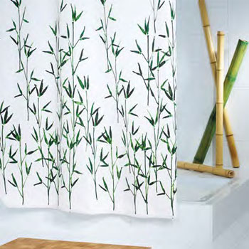 Fabric Bamboo Shower Curtain