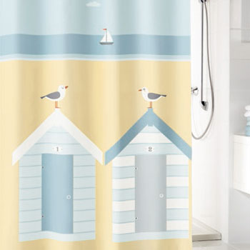 Beach Life Textile Shower Curtain Shower Curtains product photo