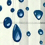 clear pvc free peva shower curtain with marine blue bubble design