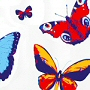 extra long fabric shower curtain with butterfly design
