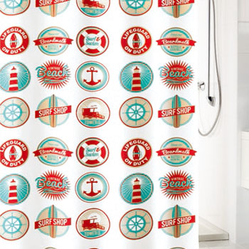 Button Textile Shower Curtain Shower Curtains product photo