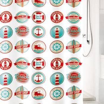 Button Textile Shower Curtain Shower Curtains product photo