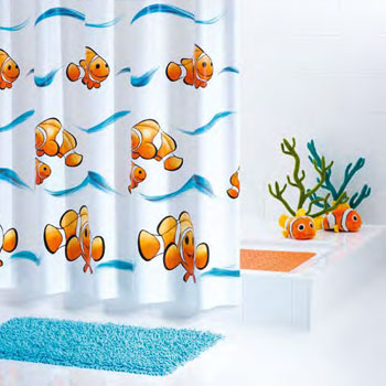 Clownfish PVC-free Shower Curtain Shower Curtains product photo