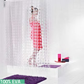 Loupe Clear PVC-Free Shower Curtain Shower Curtains product photo