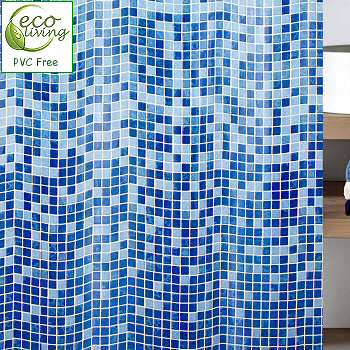 Mandolino : Mosaic PVC Free Non Toxic Childrens Shower Curtain