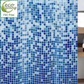 Mandolino Mosaic Pvc Free Non Toxic Childrens Shower Curtain