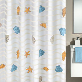 New Beach Shower Curtain Shower Curtains product photo