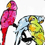 parrot shower curtain design - fabric no liner needed - shower curtain