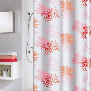 Pink Flower Shower Curtain Shower Curtains product photo