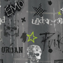 punk design fabric shower curtain