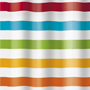 colorful stripe designer shower curtain
