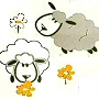 sheep fabric extra long shower curtain