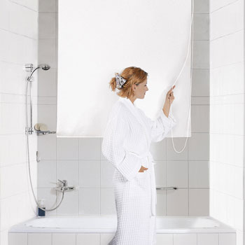 Shower Roller Blind Shower Curtains product photo