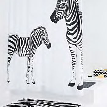 Zebra2 Textile Shower Curtain Shower Curtains product photo