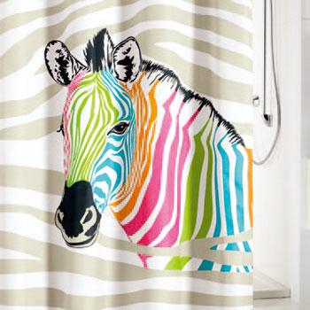Zebra Textile Shower Curtain Shower Curtains product photo