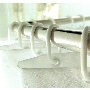 c shaped shower curtain rings in clear or white