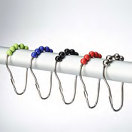 Roller Shower Curtain Hooks Rods, Rails, and Rings