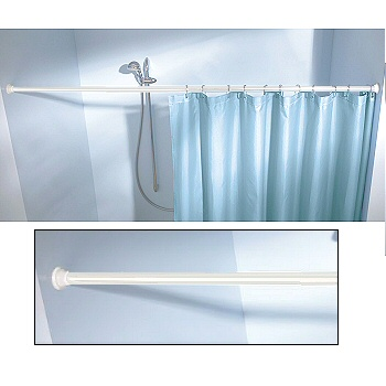 Non Corrosive Shower Curtain Rods Extra Wide Tension