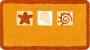 orange bath rug design with beach themed design