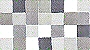 Checkered pattern includes snow white, light soft grey, two medium tones of flannel grey and a dark steel grey.