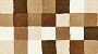 Caro toffee bath rug withlight cream, light brown, caramel and dark brown tones.