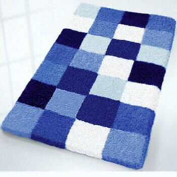 blue bath rug - home decors collection
