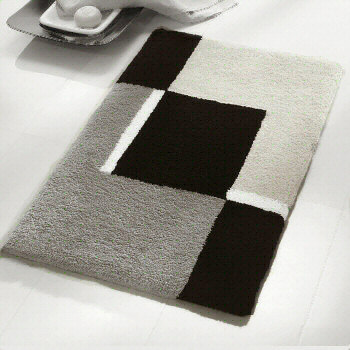 Contemporary Black And White Bath Rugs Vita Futura