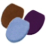 elongated lid covers in over 14 solid colors with drawstrings to conform to your toilet lid