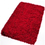 shag bath rug in garnet red, beige, grey, saffron, eggplant, clover green or sorrento azure blue