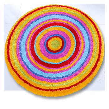 Mandala Colorful Round Bathroom Rugs Round Rugs