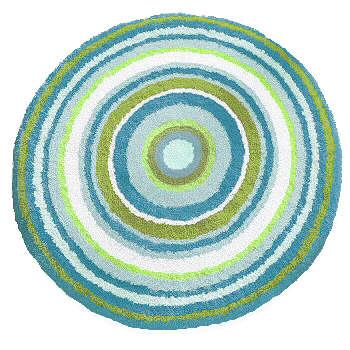 Mandala Colorful Round Bathroom Rugs Round Rugs
