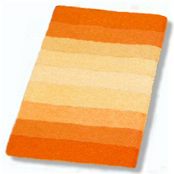 Palace Striped Plush Bathroom Rug In Orange Blue Or Red
