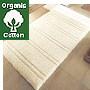 organic cotton bathroom rug in light off white creamy tone