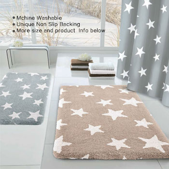 Stars Bath Rug Bathroom Rugs