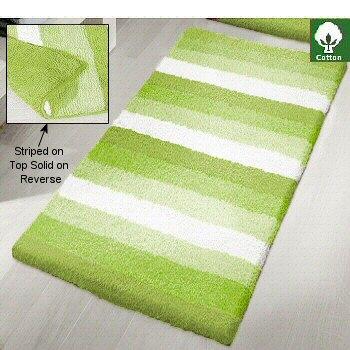Bath Striped Cotton Rug