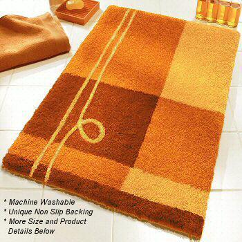 Bright Orange Bath Mat