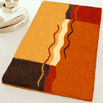 Vanessa Contemporary Bathroom Rug Sets And Affordable