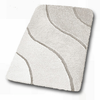 Soft Thick Affordable Bath Rugs With Unique Sculpted Wave