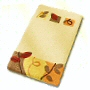 dense high quality fall themed bath mats in sand beige, palm green or brandy orange