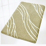 luxury bathroom rug with contemporary design in taupe