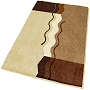 sculpted medium pile contemporary bath rug in platinum grey, brandy, palm green, or fawn brown with coordinated elongated lid covers