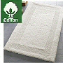 thick reversible cotton bathroom rug in natural, silver grey and snow white